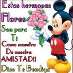 Imágenes de rosas con frases de amistad bonitas para Facebook