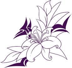 dibujos de flores hermosas facil