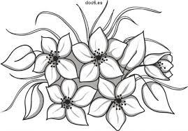 Dibujos De Flores Hermosas Gratis Para Colorear Imágenes