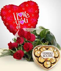 fotos de ramos de rosas rojas y chocolates