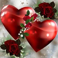 imagenes de corazones con rosas para enamorar