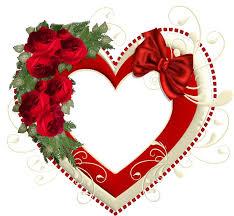 imagenes de corazones con rosas rojas