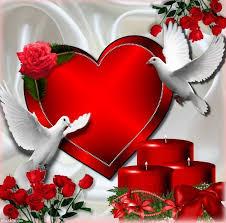 imagenes de corazones con rosas y palomas