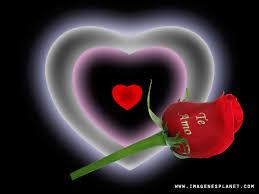 imagenes de flores con mensajes y un corazon