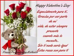rosas con frases de amistad para san valentin