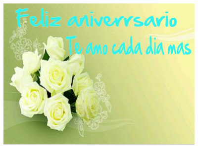 flores blancas para un aniversario