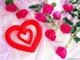 imágenes de amor con flores  y corazones