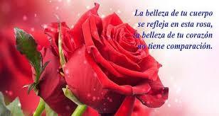 imágenes de amor con flores y frases romanticas