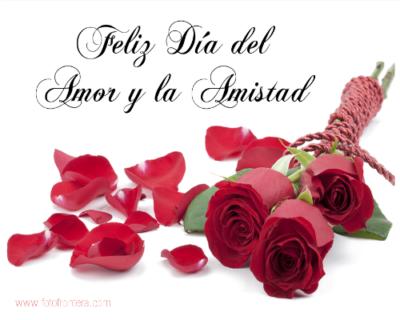 flores con frases de feliz dia del amor y la amistad para compartir