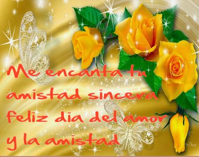 rosas amarillas con frases de amistad