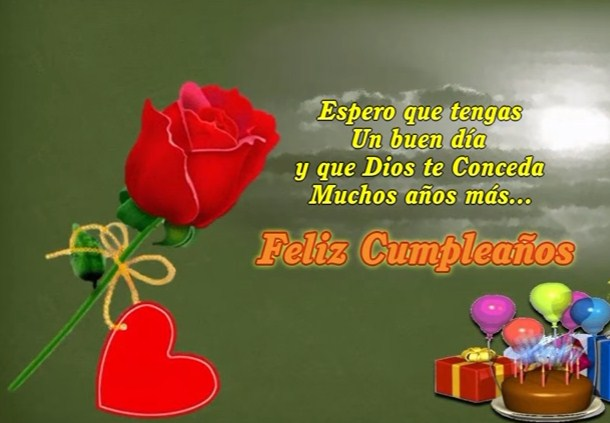 Rosas Rojas Con Frases De Feliz Cumpleaños Rosas Para