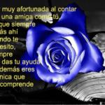 Preciosas Imágenes De Rosas Azules Con Frases De Amistad