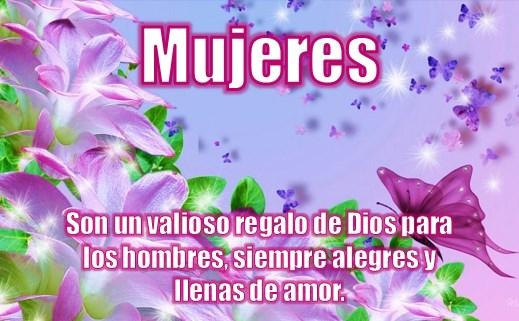 flores con frases para mujeres