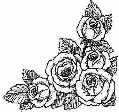 ramo de rosas para colorear