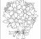 ramos de flores para colorear