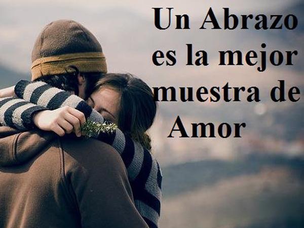 Un abrazo es la mejor muestra de amor